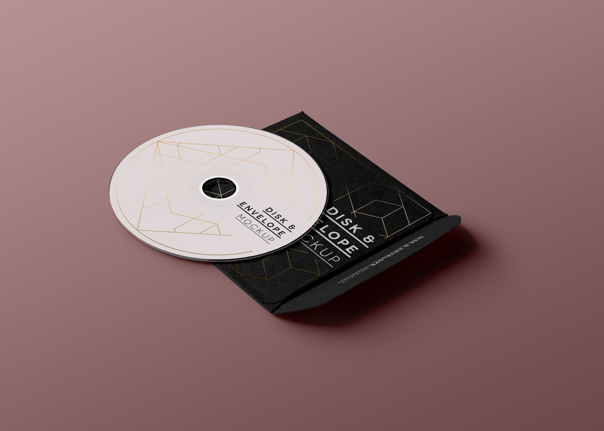 Simple And Timeless Polygonal Disk Label